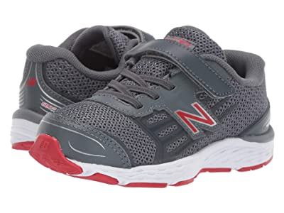 New Balance Kids IA680v5 (Infant/Toddler) (Lead/Red) Boys Shoes