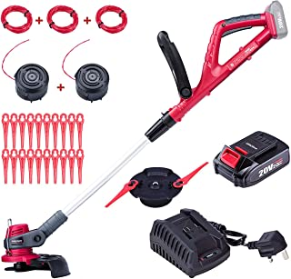 Sponsored Ad – WORCRAFT 20V Cordless Grass Trimmer/ Edger 2-in-1, 7 Positions Head & 9 Positions Handle Setting, Include ...