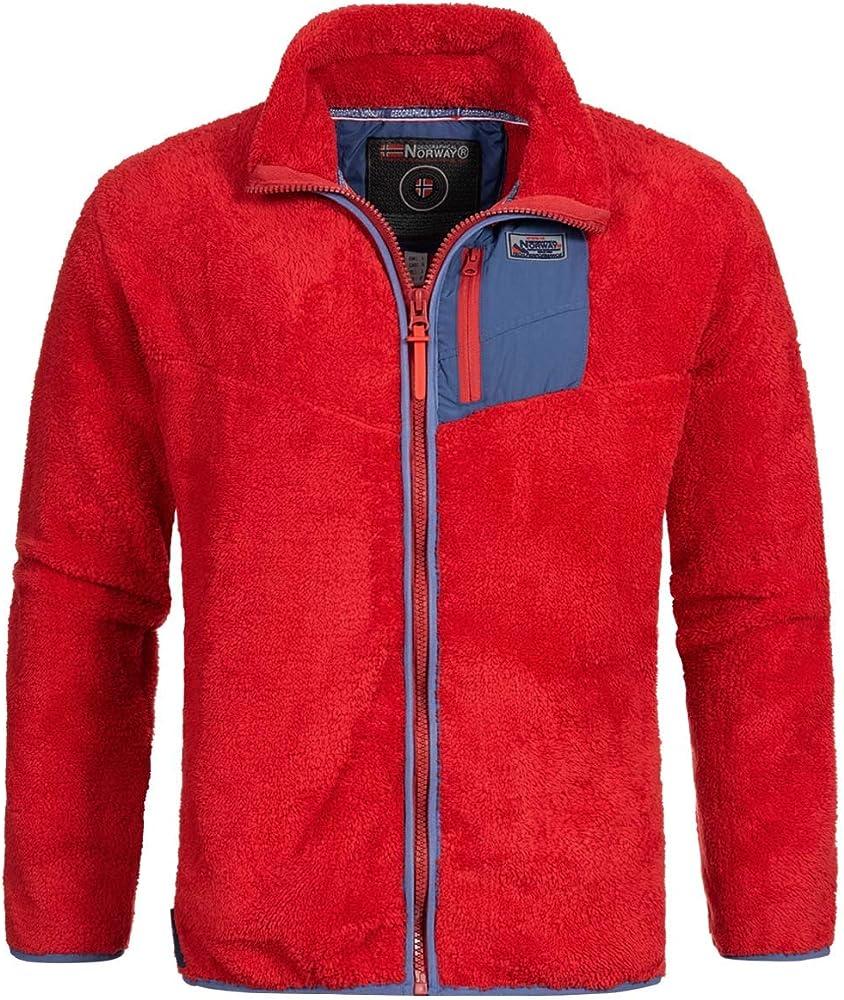 Geographical norway giacca felpa da uomo in pile terma con cerniera sul collo 65% cotone 35% poliestere WR799H/GN