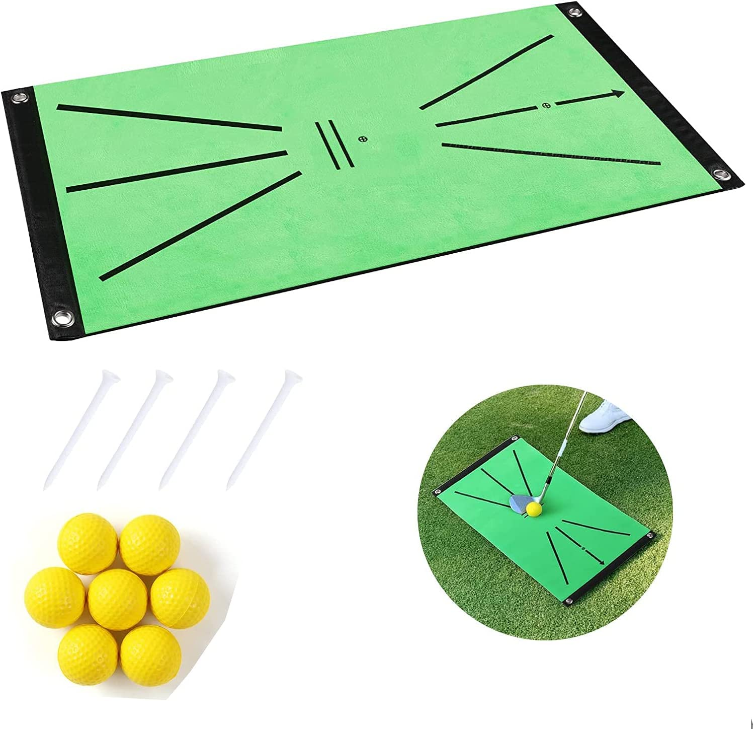 Selling and selling NR Upgrade Golf Swing Acustrike Mat Fees free Training Ma