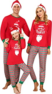 Irevial Christmas Family Pajamas Matching Sets 2 Piece Sleepwear Holiday Pjs for Adults and Kids