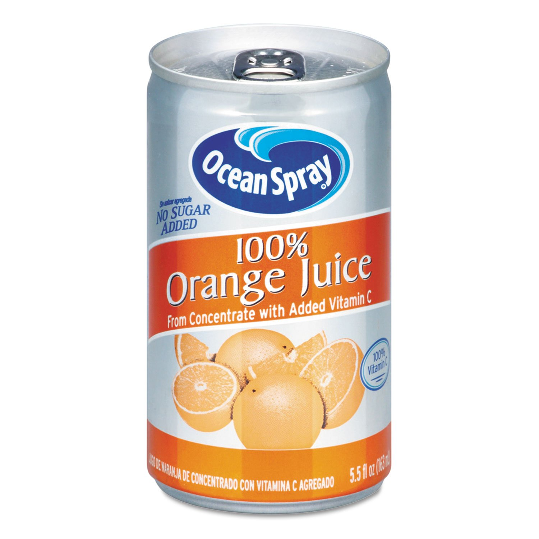 Ocean Spray Max 50% OFF Challenge the lowest price of Japan ☆ 20453 100% Juice Orange 5.5 Can oz
