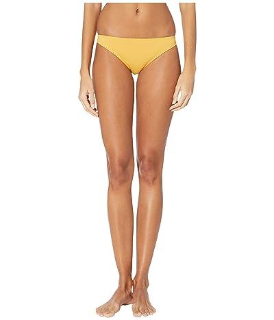 Roxy Solid Beach Classics Moderate Swim Bottoms (Honey Gold) Women