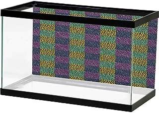 Glifporia Aquarium Background Sticker Leopard Print,Abstract Wild Exotic Animal Skin Pattern in Artistic Style with Vibrant Color, Multicolor Bright Color