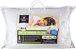 Cooling Memory Foam Bamboo Water Pillow   Hypoallergenic & Adjustable Queen Bed Pillows for Sleeping   Firm & Soft Head Su...