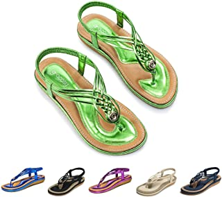 8a7c12f7325d9 Amazon.com: Green - Sandals / Shoes: Clothing, Shoes & Jewelry