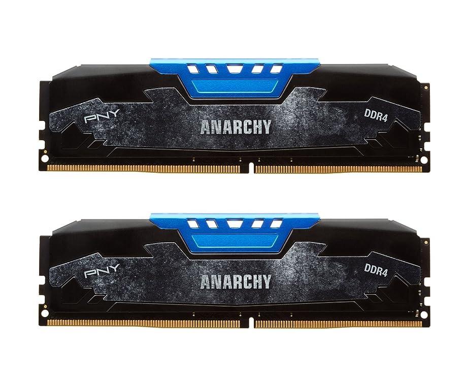 生命体忙しい反逆PNY Anarchy 16GB Kit (2x8GB) DDR4 2133MHz (PC4-17000) CL15 Desktop Memory (BLUE) - MD16GK2D4213315AB [並行輸入品]