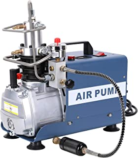 Electric PCP Air Compressor Pump - 4500 PSI/30 MPa /300 BAR - Pressure Customized - Adjustable Control with Auto-Stop - Fill Paintball and SCUBA Tanks - Pressure and Leakage Testing