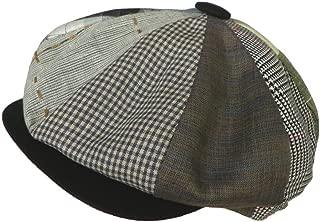 Patchwork Linen 8/4 Newsboy Cap Made in USA Gatsby Hat