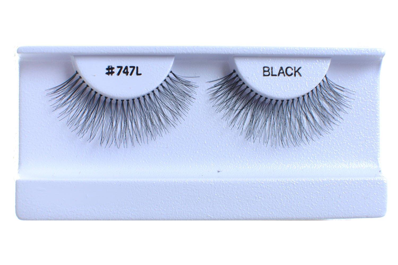 100 Pairs 100% Human Hair False #747L Minneapolis Mall Black discount Natural Eyelashes