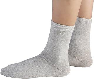 1 par de calcetines conductores, calcetines de masaje con electrodos, calcetines profesionales para pies, calcetines de cuidado de la salud para equipos de belleza(L)