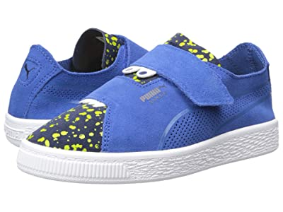 Puma Kids Suede Deconstruct Monster V (Little Kid) (Surf the Web/Peacoat/Blazing Yellow) Boys Shoes