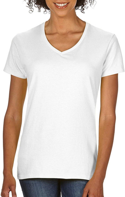 Gildan Women's Softstyle V-Neck T-Shirt - Small - White