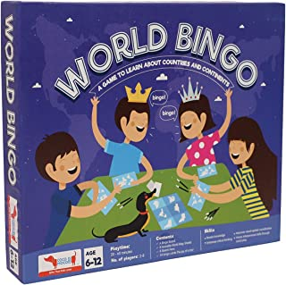 World Bingo - Geography Game Educational Toy for Learning Countries, Continents   Birthday Return Gift and Party Favor
