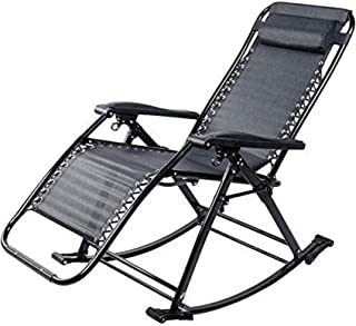 Sun Lounger Patio Reclining Chairs Rocking Chair with Folding Zero Gravity Garden Bed with Reclining Backrest Suitable for...