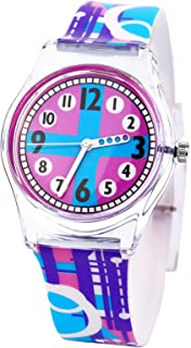 Tonnier Watches Resin Super Soft Band Student Watches for Teenagers Young Girls Watch