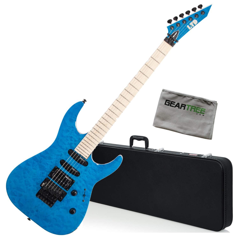 Cheap ESP LTD MH-203QM STB See Thru Blue Electric Guitar w/Hard Case and Cloth Black Friday & Cyber Monday 2019