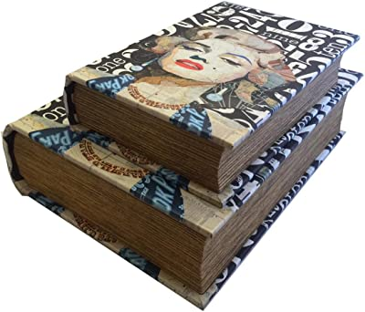 Modern Art Marilyn Monroe Book Box Set Jewelry Keepsake Secret Book