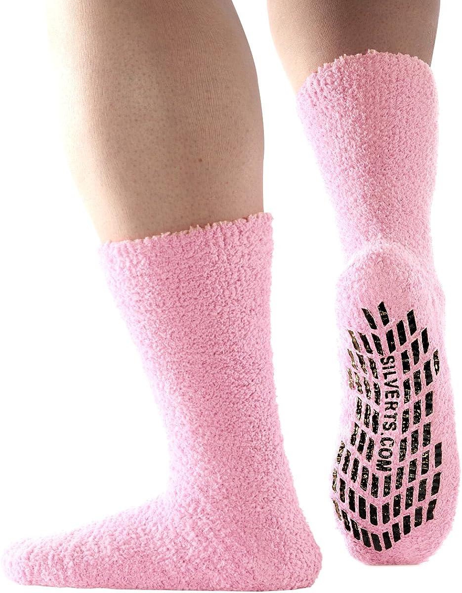Non Skid Hospital Socks/No Slip Socks – Best Fuzzy Gripper Socks - Slipper Socks