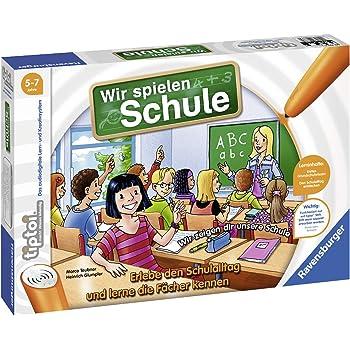 Ravensburger tiptoi Spiel 00733 Wir spielen Schule, Spiel von Ravensburger ab 5 Jahren für 1-4 Spieler, Erlebe interaktiv einen kompletten Schultag