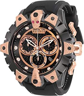 Invicta Men's Reserve Venom Stainless Steel Quartz Watch with Silicone Strap, Black, 26 (Model: 32226)