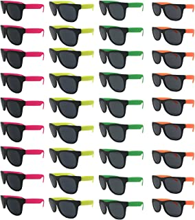 Neon Sunglasses (Pack 36) Assorted Cool Colors Wayfarer...