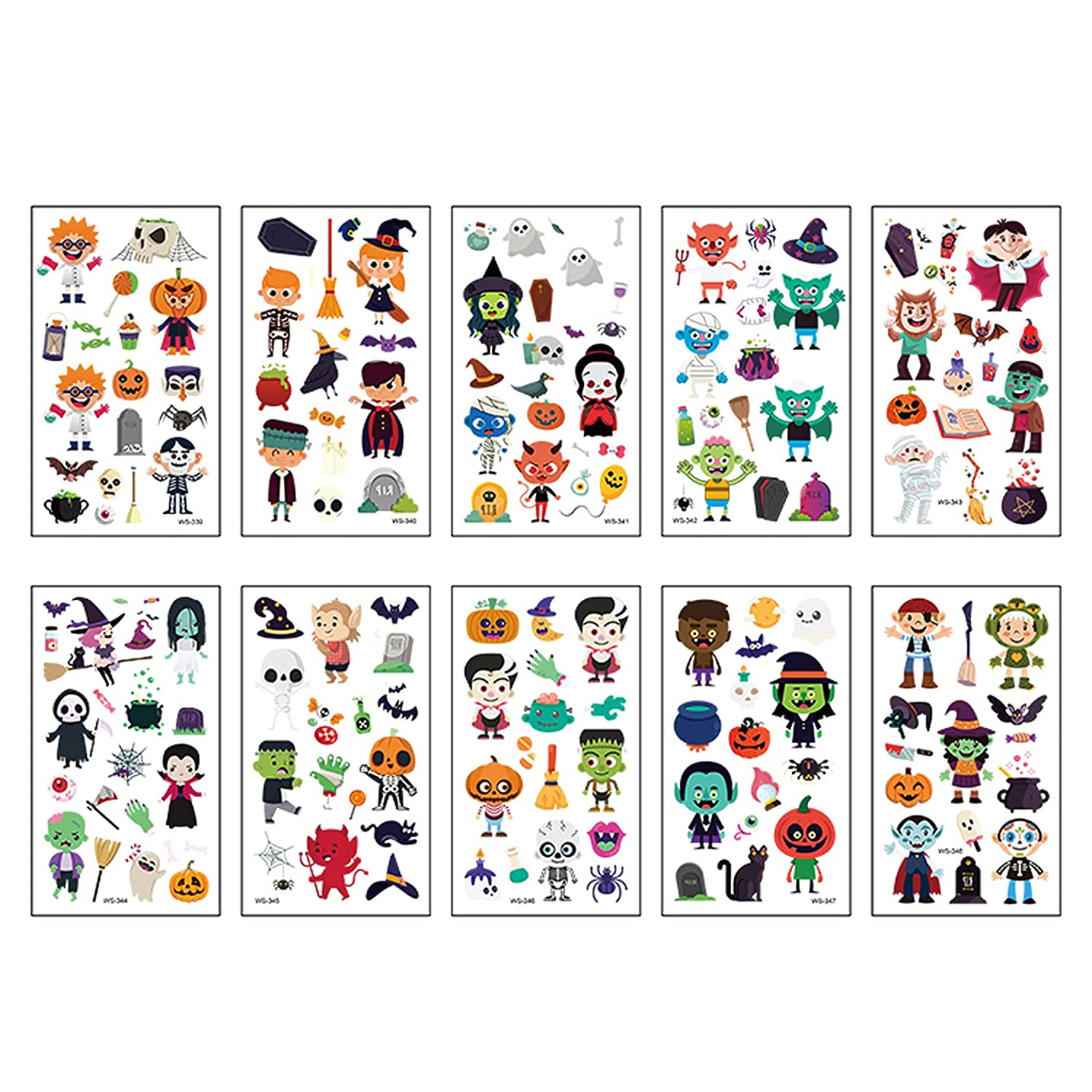 OVERMAL Halloween Temporary Tattoos for Super beauty product restock quality Max 82% OFF top 20 10 Kids Lumin Sheets