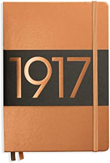 Leuchtturm1917 Hardcover Dotted Notebook- 121 Numbered Pages, Copper