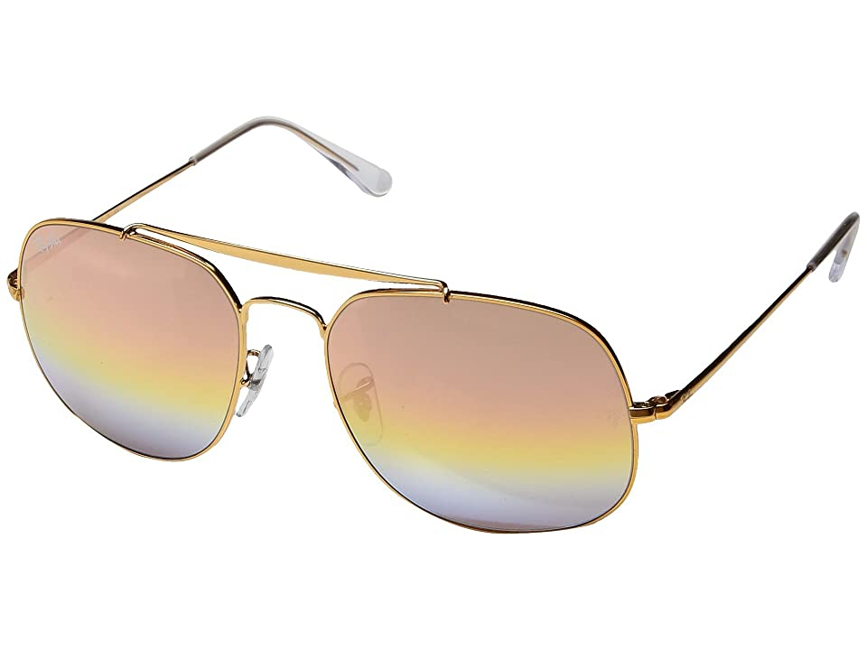 Ray-Ban 0RB3561 The General 57mm (Light Bronze/Pink Gradient Mirror) Fashion Sunglasses