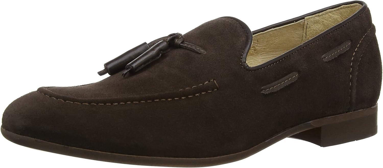 Hudson Mens Brown Pierre Suede Loafers-UK 8