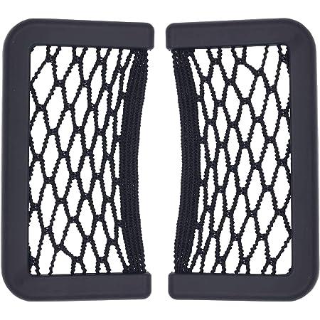 carica sigarette, tasca per rete portaoggetti per bagagliaio per auto reti elastiche in nylon Organizer per supporto per sacchetti appiccicosi per telefoni Borsa a rete nera per rete portaoggetti