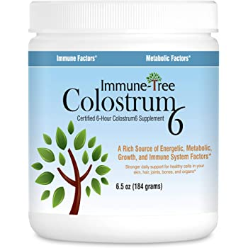 Immune-Tree All Natural 100% Bovine Colostrum Powder | Maximum Strength | 120 Servings | 6.5oz | Certified 6 Hour | Absorbs Readily | Protects Natural Anti-Aging, Immune, Metabolic, & Other Essential Factors | Made in USA From Grass Fed, Grade A Dairy Cows