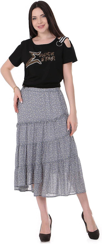 Women's Retro Waisted Plaid Layered Flared A-line Midi Skirt