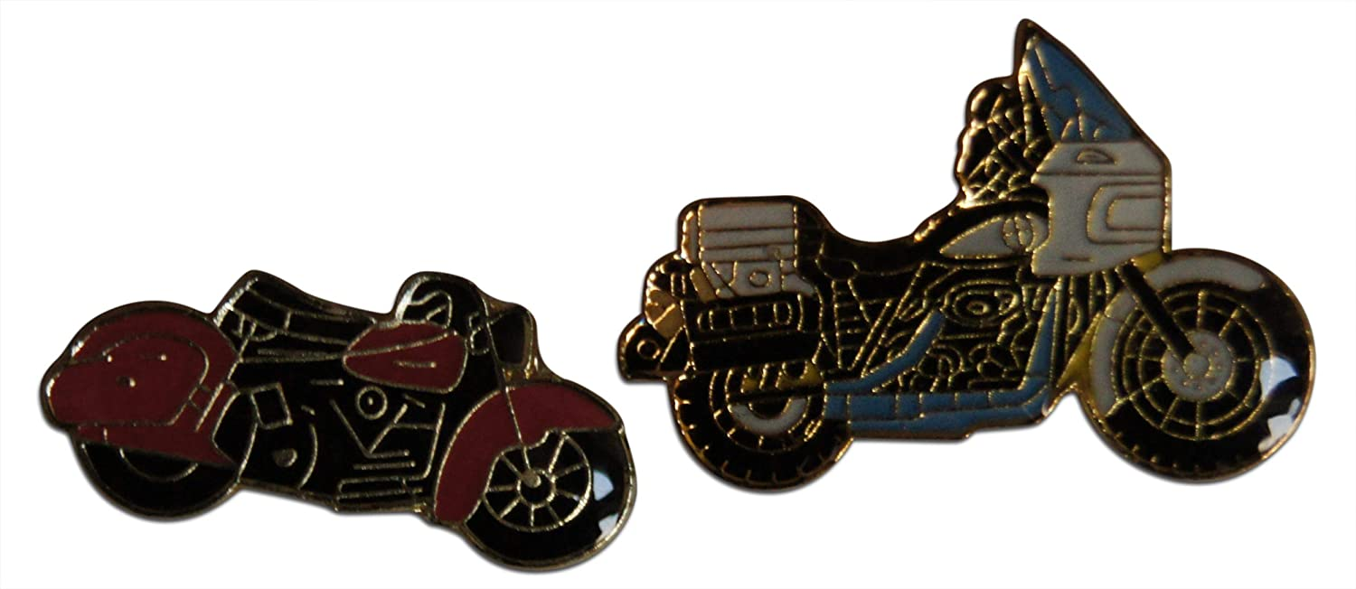 2-Piece Motorcycle Bike Red Hog Blue or New Free Shipping Chopper Cheap bargain Lapel Hat Pin
