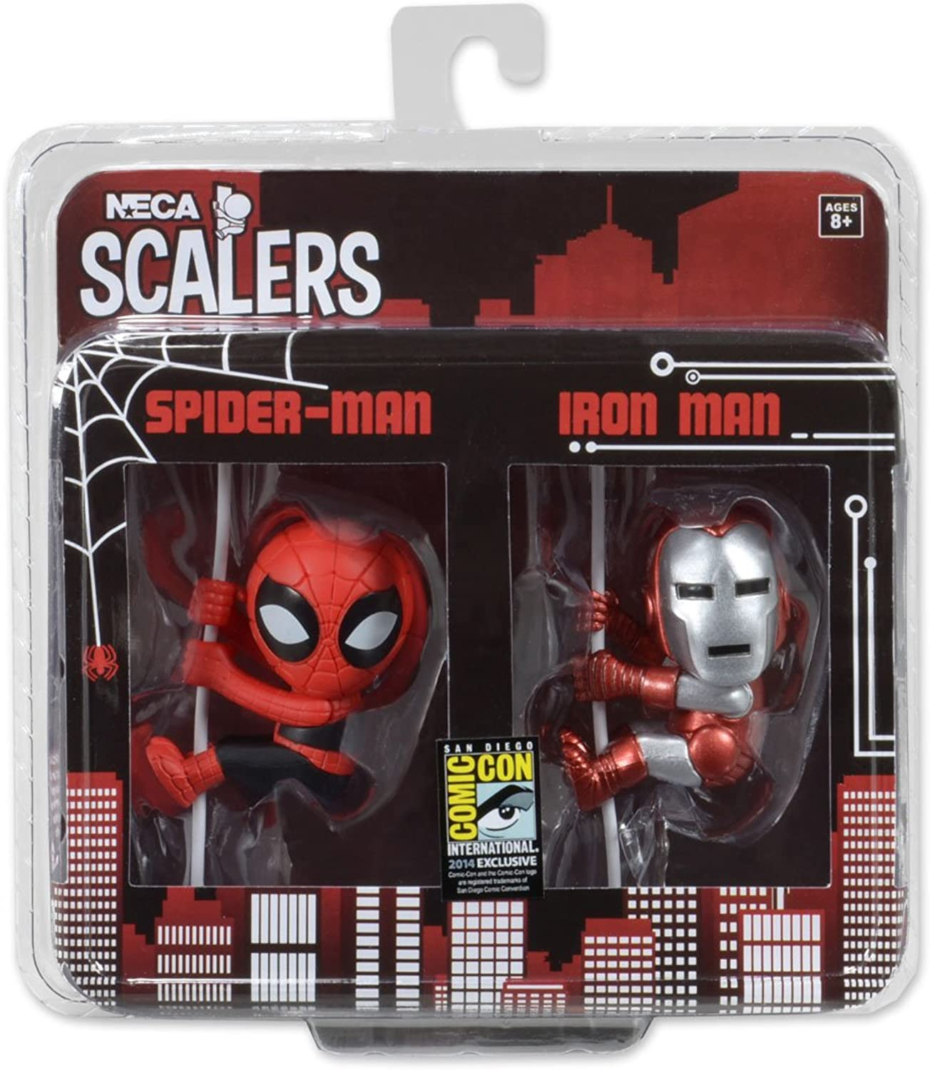 Scalers  - Ironman Spiderman 2 inch 2 Pack SDCC 2014