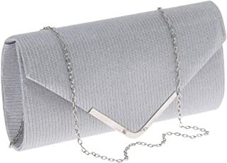 FITYLE Women Noble Glittering Evening Bag Envelope Clutch Purse Chain Crossbody Bag