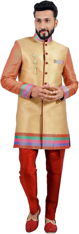 Designer Short Multicolord Indian Wedding IndoWestern Sherwani for Men