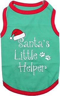 Parisian Pet Funny Christmas Holiday Dog Cat Pet Shirts Tee Tanks - Naughty or Nice, Santa Outfit, Elf Size, Santa's Helpe...
