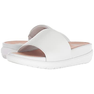 FitFlop Loosh Luxetm Leather Slide Sandals (Urban White Leather) Women