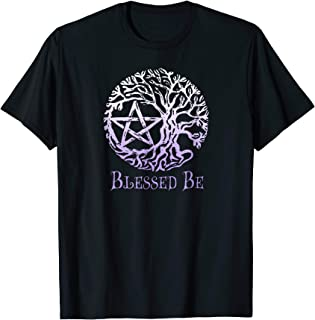 Wiccan and Pagan T-Shirts, Tree of Life Pentacle, Blessed Be