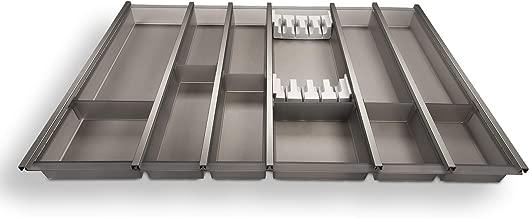 Sotech SO-Tech/® Cuisio Inserto Portaposate 90 cm Bianco Traslucido con Portacolteli Portaposate per Cassetti Blum