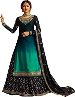 New Indian/Pakistani Eid Special Party/Ethnic wear Georgette Straight Ghagra Style Salwar for Womens
