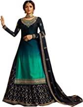 Delisa New Indian/Pakistani Eid Special Party/Ethnic wear Georgette Straight Ghagra Style Salwar for Womens