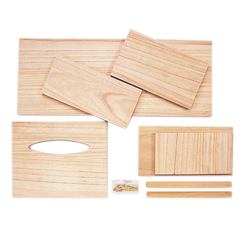 一節処方する飾り羽サンモク 木工キット 兼用ティッシュボックス ダストボックス付 9802936
