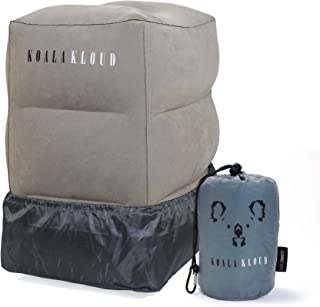 Koala Kloud Inflatable Foot Rest Travel Pillow - for Toddlers & Kids, Best Accessory and Gadget for Traveling by Airplane or Car, Use as a Footrest Stool Under Office Desk, Fly with Your Legs Up