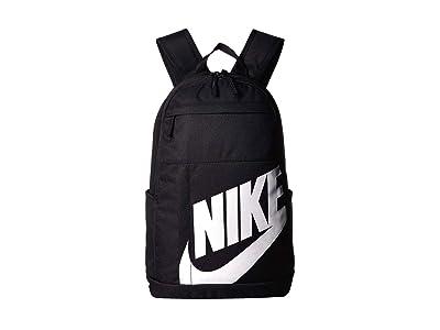 Nike Elemental Backpack 2.0 (Black/Black/White) Backpack Bags