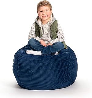 (80cm , Royal Blue Corduroy) - Creative QT New Stuff 'n Sit - Stuffed Animal Storage Bean Bag Chair for Kids - Pouffe Otto...