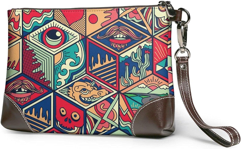 Lion Ladies Leather-Handbag Real Clutch Design Popular products Wristband Atlanta Mall Cowhide