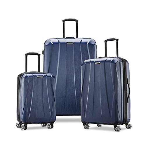 Samsonite Centric 2 Hardside Expandable Luggage with Spinner Wheels, True Navy, 3-Piece Set (20/24/28)