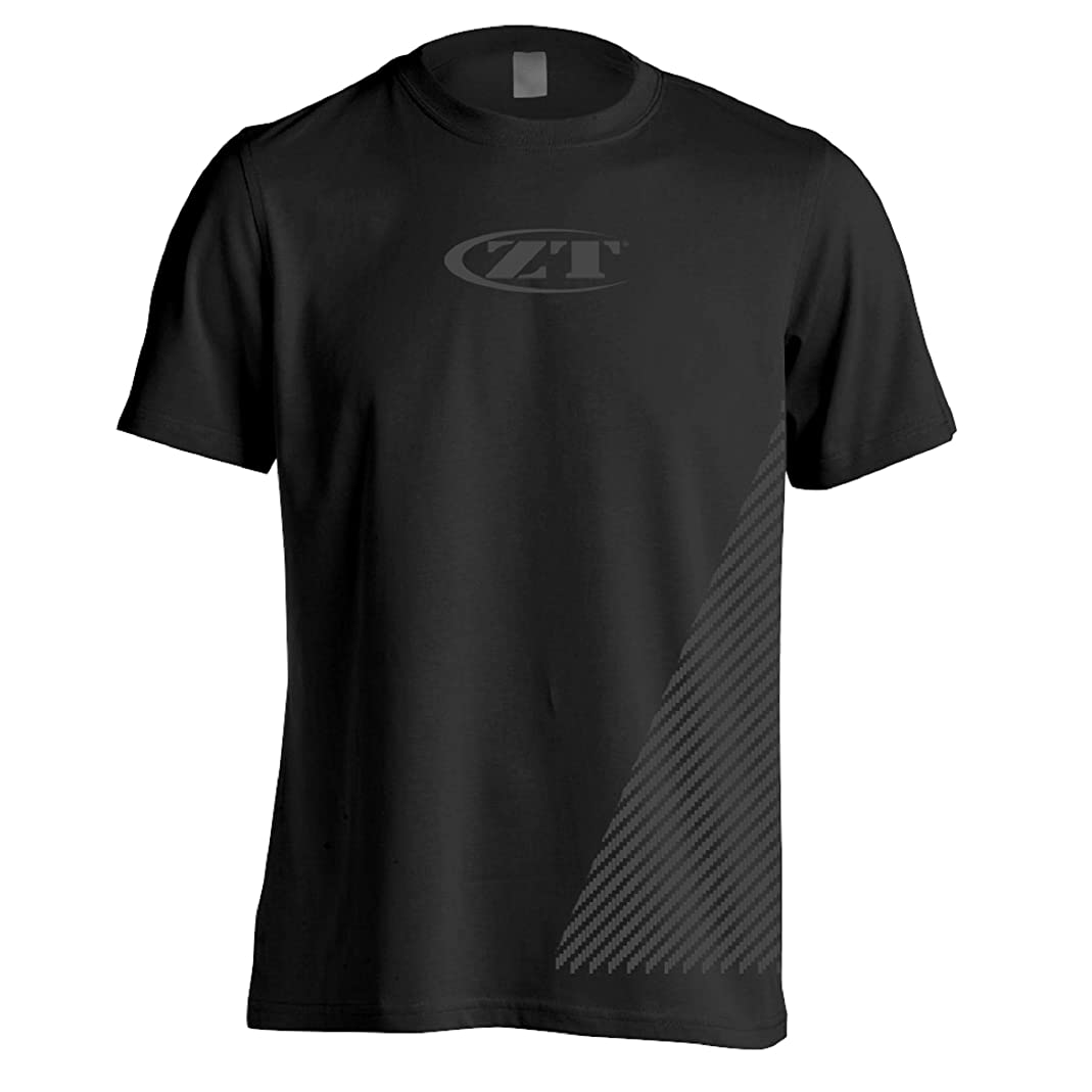 Zero Tolerance XL Shirt 3 – Tactical; Black Tee is Made of 100% Pre-Shrunk Cotton with Grey Design and Logo, Shoulder-to-Shoulder Taping, Double-Needle Stitching and Lay-Flat Collar; Multi-Size